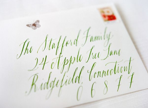 Caroline's birth announcements | Calligraphy by Maybelle