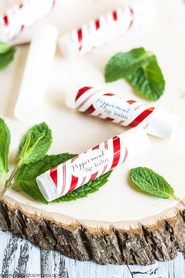 Homemade Peppermint Lip Balm Recipe and Stocking Stuffer Idea