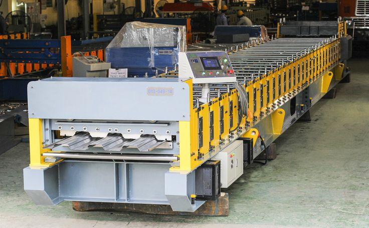 Floor Deck Roll Forming Machine #floordeck #floordecking #rollformingmachine #ameco #amecovietnam