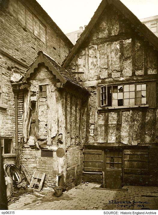 OP06315 A view of Marsh Farm House, a timber-framed house in Red Lion Street, Nottingham.   Date: 1925  Please click for more information or to search our collections.