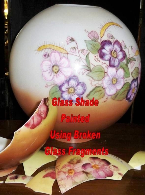 Replacement Glass Lamp Shades - Hand Painting To Match Your Base