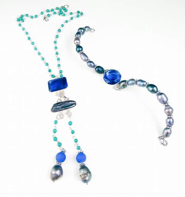 turcoise.mother of pearl.hydro quartz