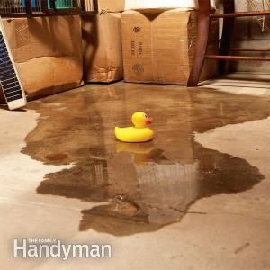 Affordable Wet Basement Solutions -- for that spot in the basement that always leaks with a ton of rain..