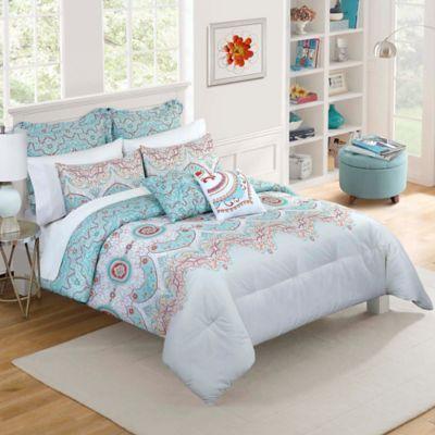 Buy Vue 174 Cordova Reversible Twin Xl Comforter Set In Plum