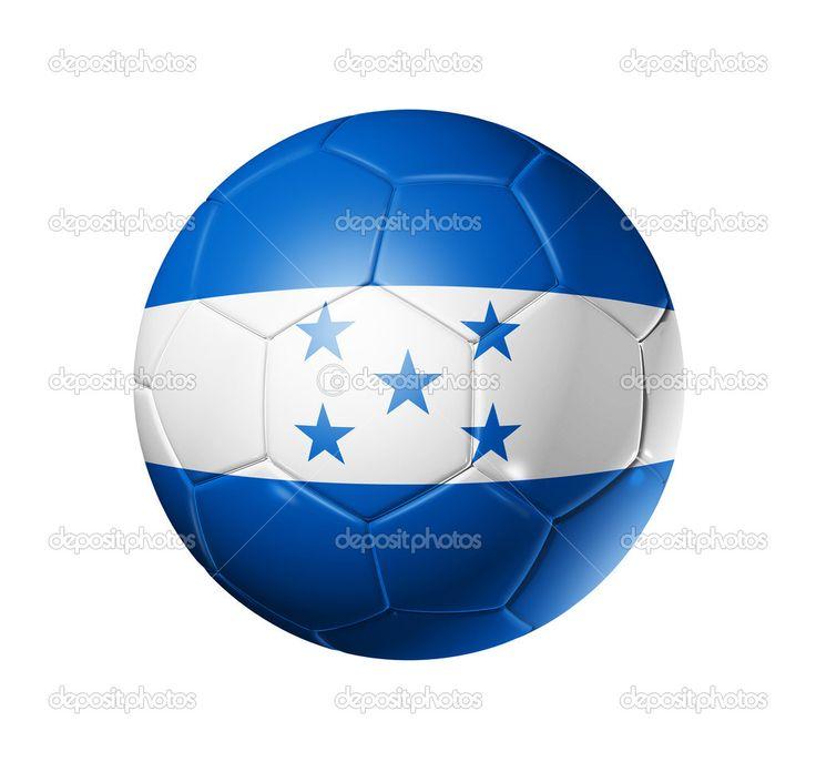 honduras futbol   balón de fútbol con la bandera de honduras - Imagen de stock