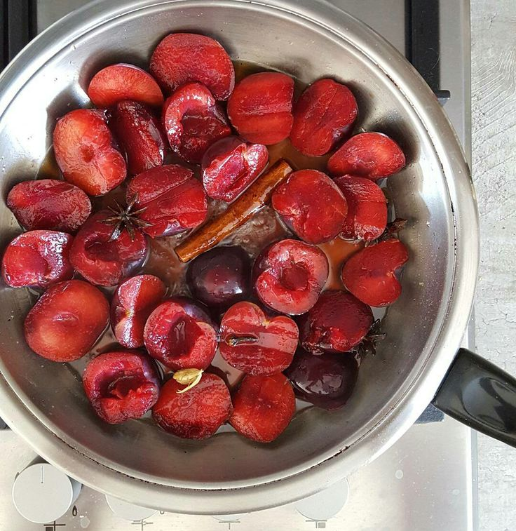Repost 📷 by @Bitsofcarey :   Sugar and spice, and all things nice simmering away.  #foodblogfeed #feedfeed #plums #spice #festive #fresh #forkfeed #food24_sa