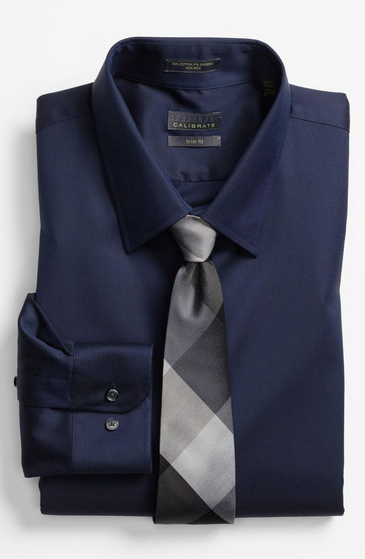 Calibrate Trim Fit Non Iron Dress Shirt. Love the no ironing part!