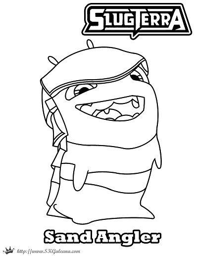 slugterra coloring pages of joules - photo#21