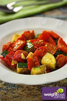 Sautéed Vegetable Salad Recipe. #VegetableSaladRecipes #DietRecipes #SaladRecipes #WeightLossRecipes weightloss.com.au