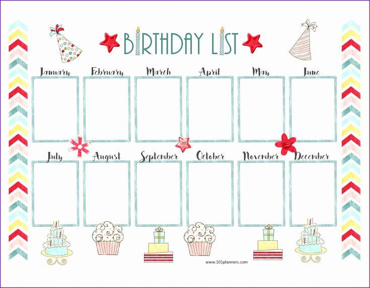 Sample Free Birthday Calendar Template Excel Gaklh ...