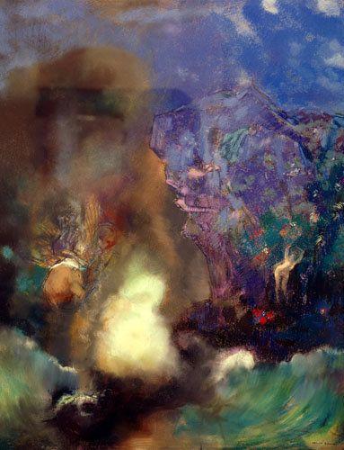 Titre de l'image : Odilon Redon - Roger et Angélique.