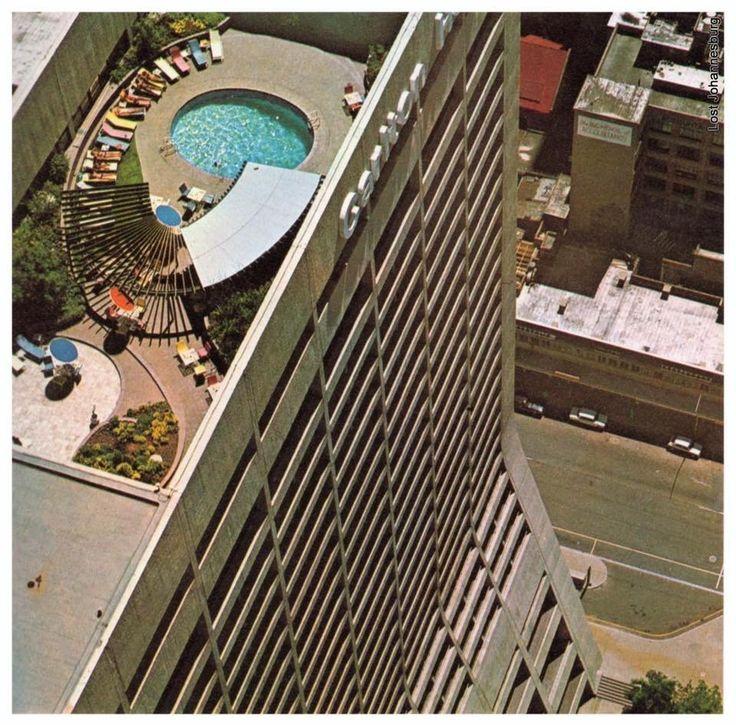 Carlton Hotel rooftop pool.