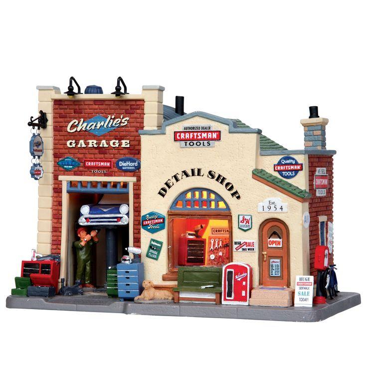 Lemax Village Collection Christmas Village Porcelain Lighted House - Charlie's Garage - Seasonal - Christmas - Villages & Collectibles