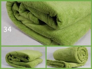 Příjemná deka světle zelené barvy