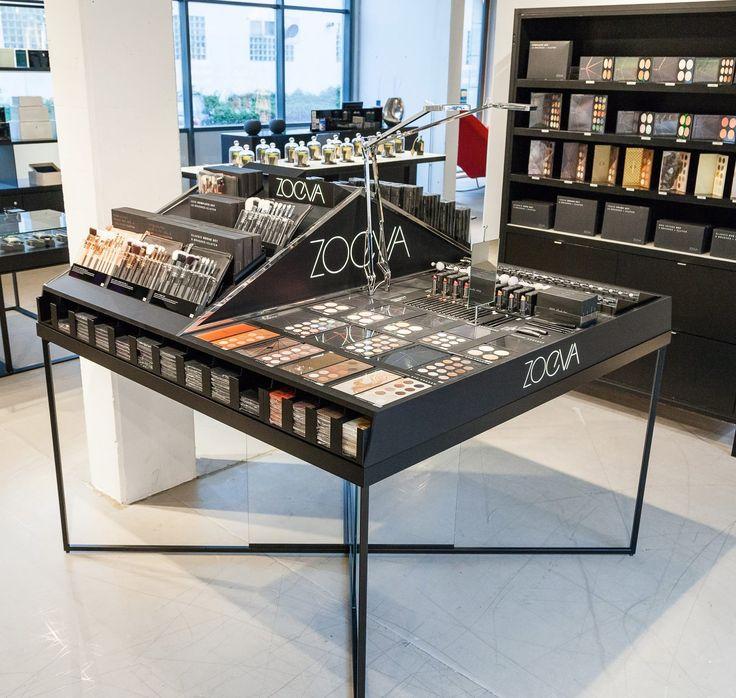 Makeup Table creation for ZOEVA cosmetics. Displayed in Selfridges, Douglas, SMETS concept stores,  and other beautiful shops ... Design by ©Studio Homewerk www.homewerkberlin.com