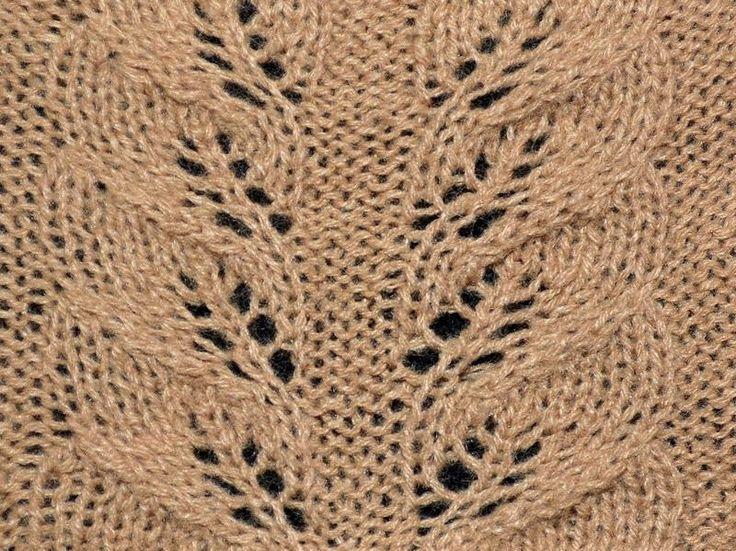 Autumn Leaves lace knitting stitch - KnitHit.com