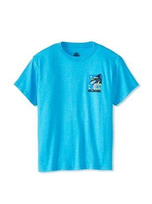 63% OFF Maui & Sons Boy's Deco Shark Tee (Neon Turquoise Heather)