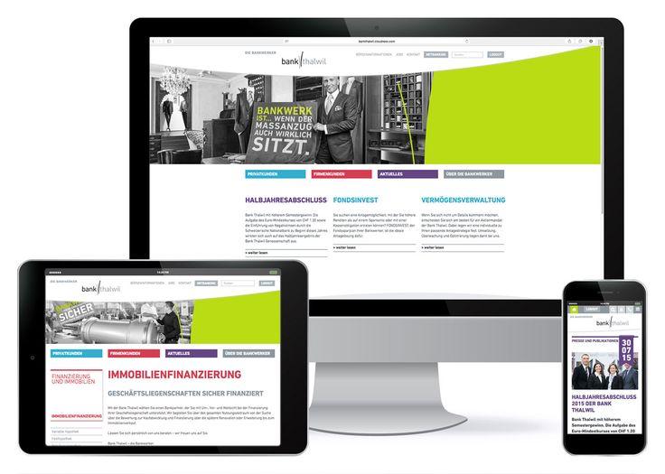 Kunde: Bank Thalwil | Branche: Finanzdienstleistungen | Werbemittel: Responsive-Website | Erscheinung: einmalig | Umfang: Standard / BBGmarconex AG