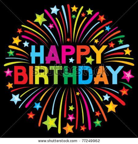 happy birthday firework by Tribalium, via Shutterstock