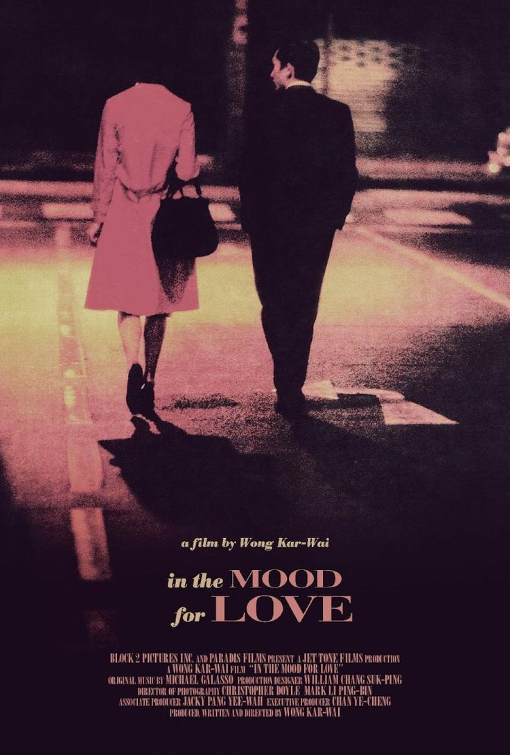 In the Mood for Love, a Wong Kar Wai film.  Personal favorite.