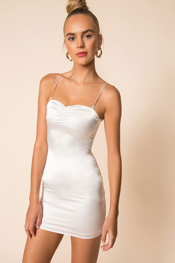 Tabitha Mini Dress in White i 2020