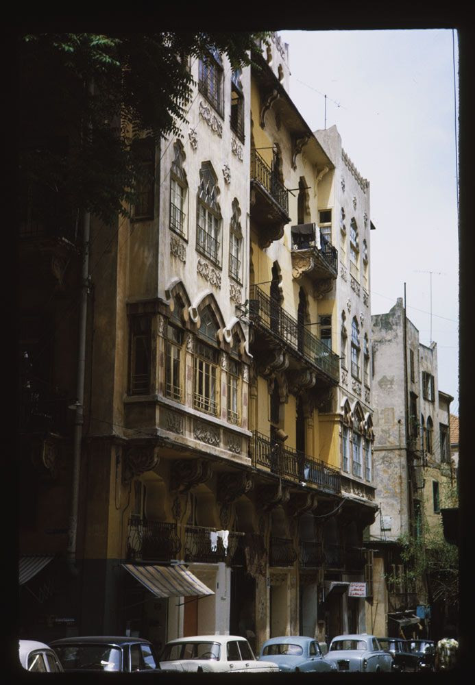 """Old Building in Beirut [1965] | Copyright Charles W. Cushman"" #beirut #oldbuilding #vintage #photography: Old Lebanon Architecture, Beirut 1965, Vintage Photos, Vintage Photography, Lebanon L٥ﻻﻉ ٥Υ, Beloved Lebanon, Beirut Lebanon, Lebanon L٥ﻻﻉ٥Υ, Oldbuild Vintage"