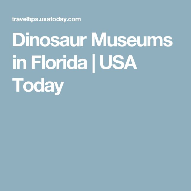Dinosaur Museums in Florida | USA Today