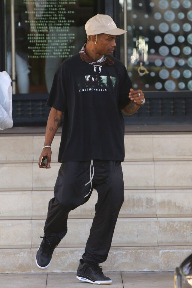 76210613ace7 Travis Scott Skateboarding during some time off on in 2019 All