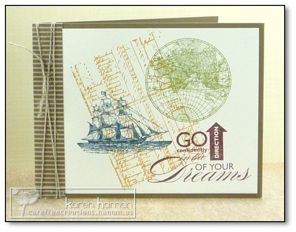 Sail Toward Your Dreams kth by kthaman - Cards and Paper Crafts at SplitcoaststampersStamps Cards, Open Sea, Cards Ideas, Dreams Kth, Camps Cards, Masculine Cards, Kth Encourage Sailtowardsdream, Stampin, Paper Crafts