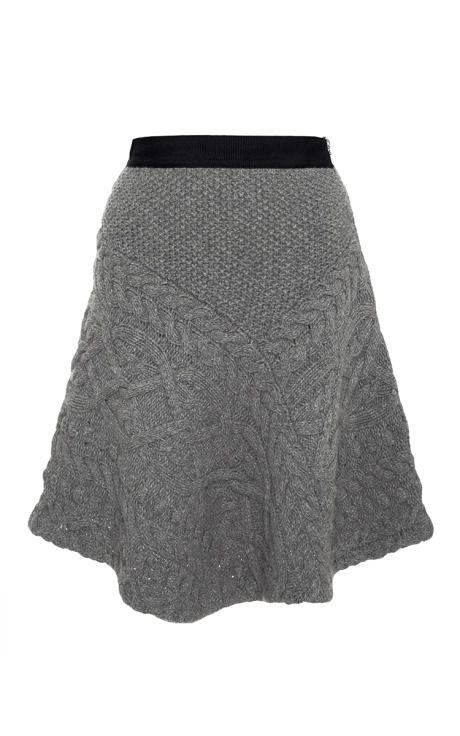 Luce Cavo Grigio Knit Skirt da Rhie per Preorder su Moda Operandi