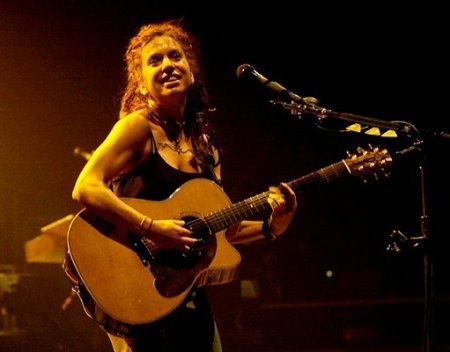 Ani DiFranco, perhaps the most righteous babe ever. An incredible songwriter, poet, and lyricist. An incredible person. Even if you're not a fan it would be worth your while to see one of her shows. She is amazing.