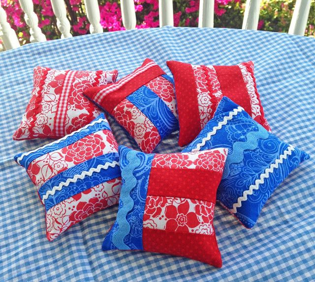 KBB Crafts & Stitches: Red, White & Blue Beanbags