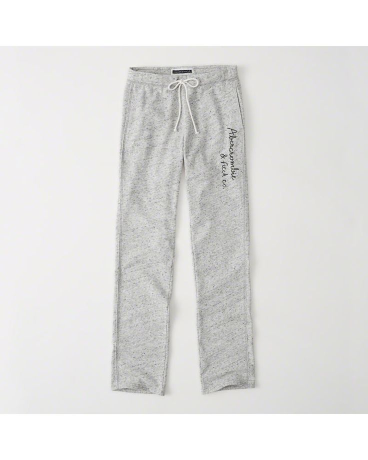 A&F Women's Slim Logo Sweatpants in Grey - Size M