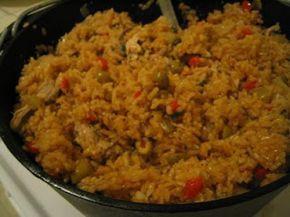 Recetas de cocina tipicas: Arroz con Pollo (estilo panameño)