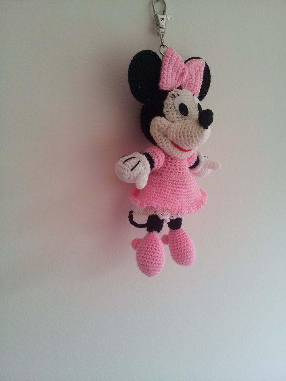 Minnie Mouse Gehäkelte Schlüsselanhänger / von Solutions2511, £7.50