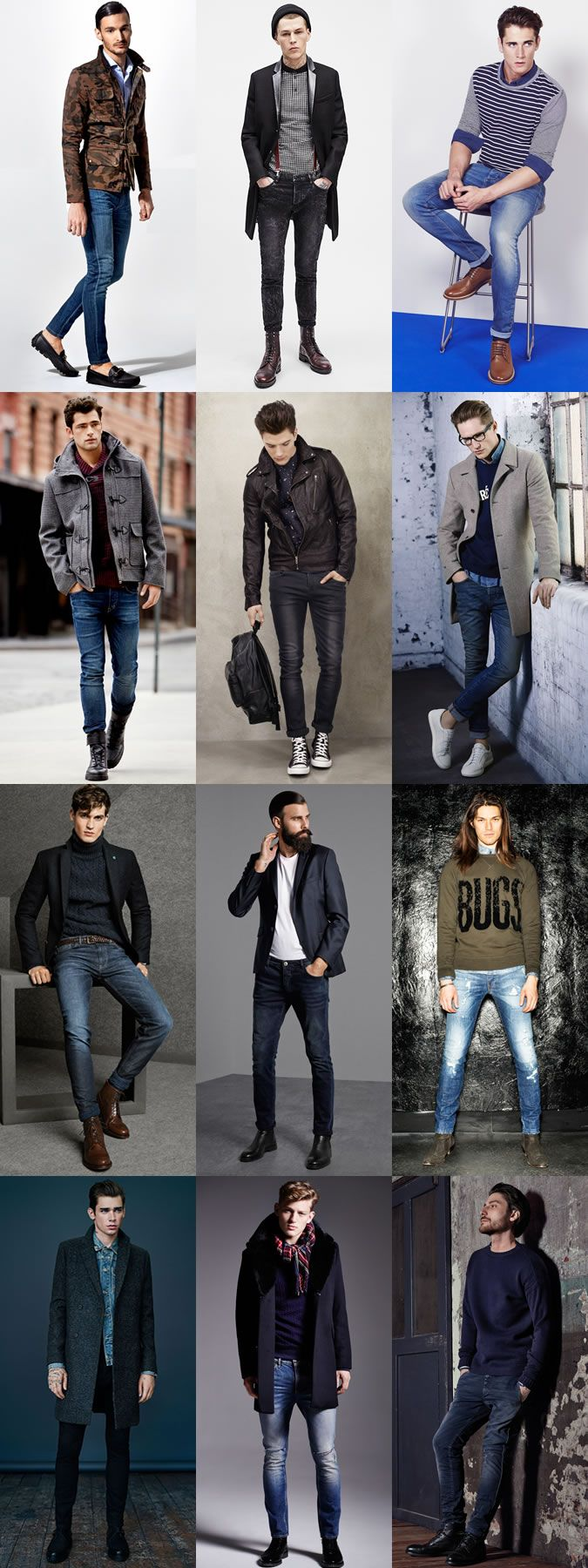 Men's Skinny Jeans Outfit Inspiration Lookbook