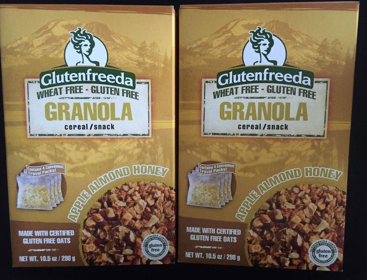 Glutenfreeda granola apple almond honey 2 boxes