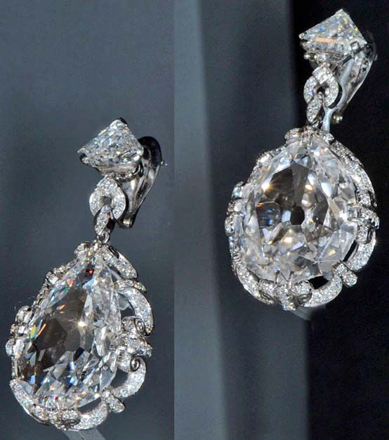 The Marie Antoinette diamonds. The original earrings were owned by Marie Antoinette, the queen of France; guillotined in 1793 during the French Revolution. Said to be a gift from her husband, King Louis XVI. According to one legend, she had them with her when she was arrested fleeing the French Revolution in 1791. Grand Duchess Tatiana Yousupoff of Russia later acquired the earrings. They stayed within her family until 1928.