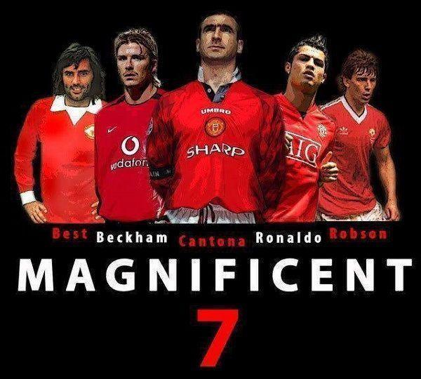 Cantona, Ronaldo, Robson, Beckham, Best grali z numerem 7 • Wspaniała siódemka w Manchesterze United • Wielcy gracze z nr 7 w Man U >> #manutd #manchesterunited #football #soccer #sports #pilkanozna