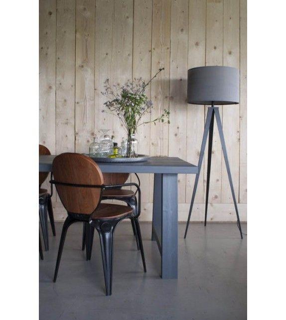 Lampadaire Sur Pied Tripod Metal Gris Et Noir Design Scandinave Zuiver Lampe Sur Pied Salle A Manger Moderne Lampadaire Design