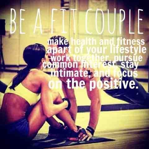 """Fitness & Health: Fit Couples - Monday Motivation I would LOVE for Jason to join me on my quest for fitness... it could be that one """"us"""" thing."""