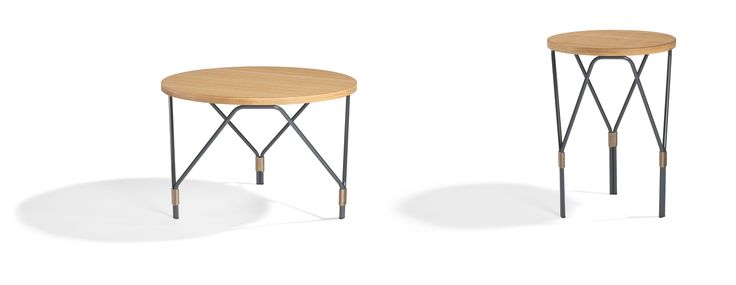 Weld: coffee table, side table and also a practical design support which can be used outdoor thanks to the new iroko wood top.