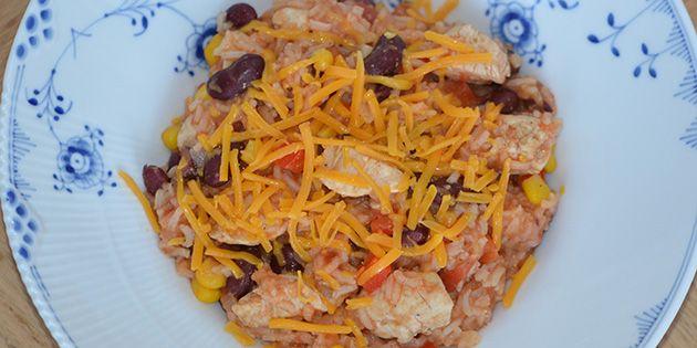 Mexicansk gryderet med kylling