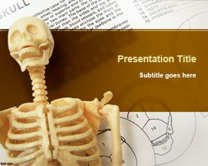 Free Skeleton PowerPoint Template is a nice anatomy PowerPoint design and background that you can use for science projects, learning anatomy courses online as well as other skeleton related presentations including skulls, bones, Skeletal System, etc