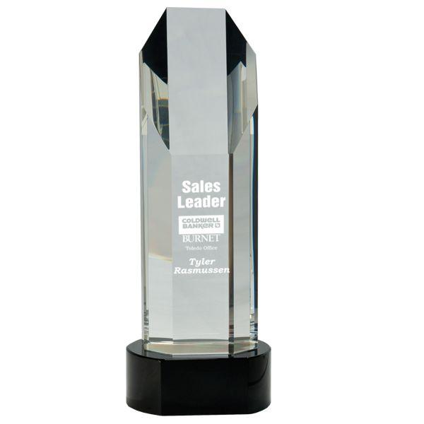 Octagon Slant-Top Crystal Award