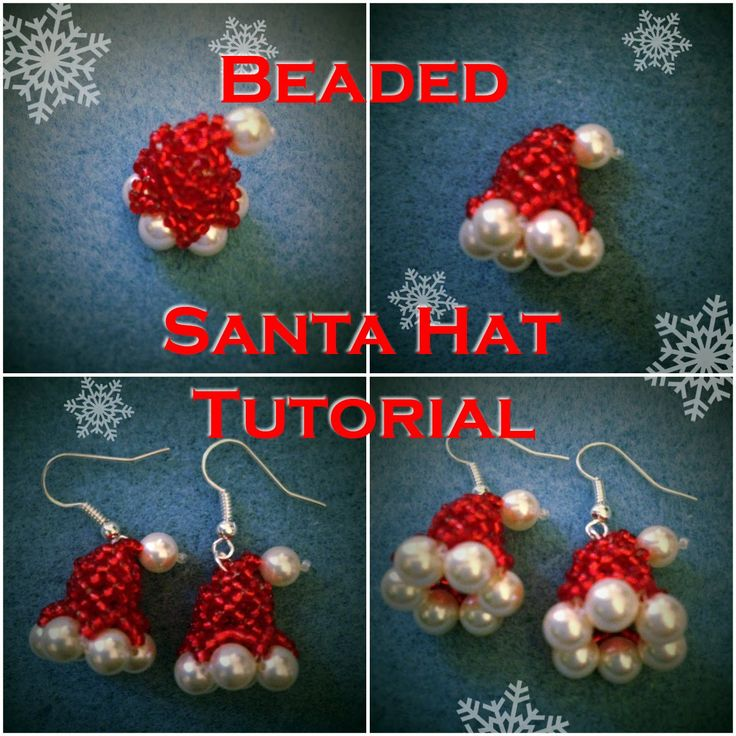 This tutorial will show you how to make a little beaded Santa Claus hat that can be used as an earring or for other decoration like on the tree, on a charm b...