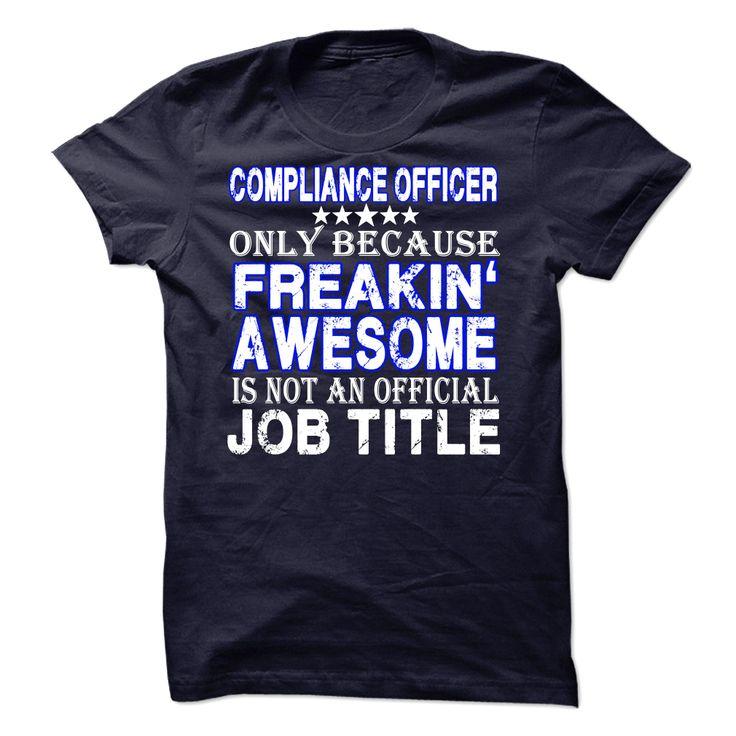 Compliance Officer T Shirt 19 best Compliance Humour
