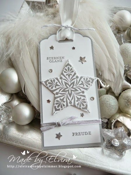 features Stampin Up's Bright & Beautiful stamp set and scallop tag punch. Inspirations Hop - Ideen zum Herbst-/Winterkatalog