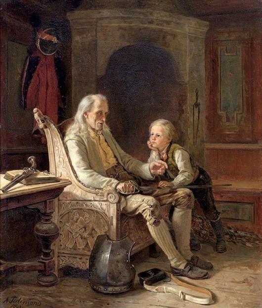 Adolph Tidemand -Grandfather's Memories. 1865