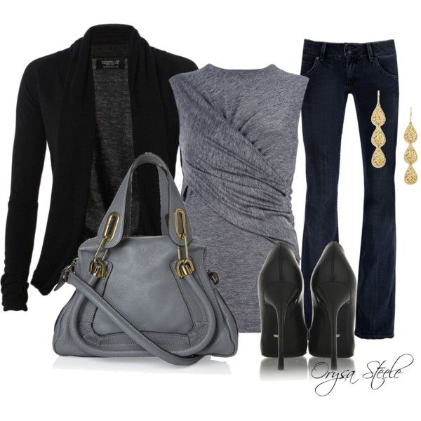 """""""Friday night style"""" PolyvoreCasual Friday, Style, Clothing, Casual Fall, Dresses, Winter Fashion, Fall Trends, Work Outfit, Black"""